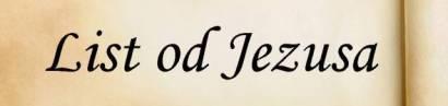 List od Jezusa